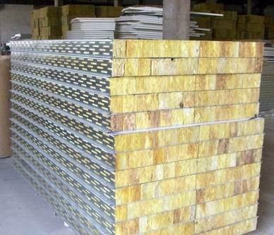烘道岩棉彩钢板